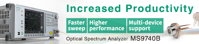 High-Speed Spectrum Analyzer MS9740B for Optical Device Evaluation