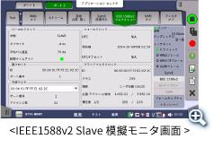 IEEE1588v2 時刻同期モニタ画面