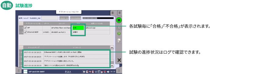 MT1040A_自動試験_試験進捗