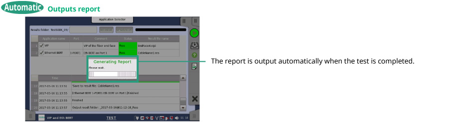 Outputs report