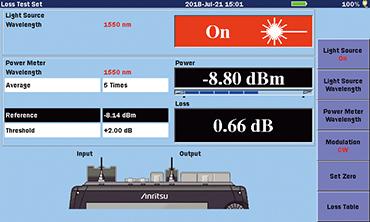 MT9085 Series, Optical power/ Loss Measurement