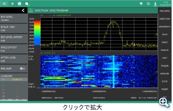 スペクトログラム表示画面