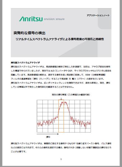 突発的な信号の検出