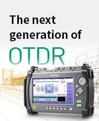 タッチパネル対応OTDR