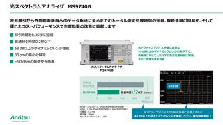 光アクティブデバイスの検査効率改善に貢献する光スペクトラムアナライザ