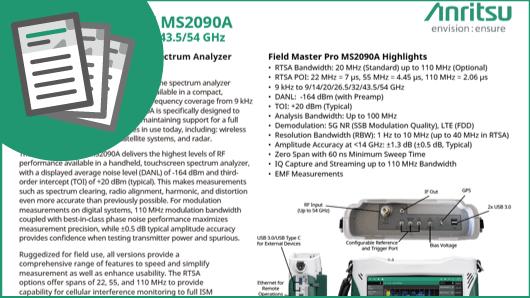Quick Fact Sheet: Field Master Pro MS2090A