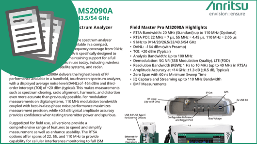 Quick Fact Sheet: Field Master Pro MS2090A