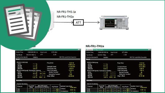 アプリケーションノート:5G NR sub-6 GHz 測定方法