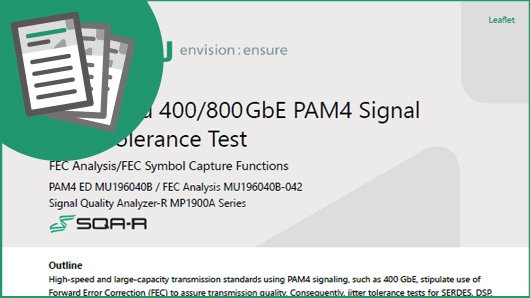 FEC Based 400/800GbE PAM4 Signal Jitter Tolerance Test