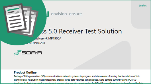 PCI Express 5.0 Receiver Test Solution