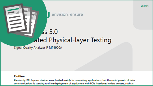 PCI Express 5.0 Automated Physical-layer Testing