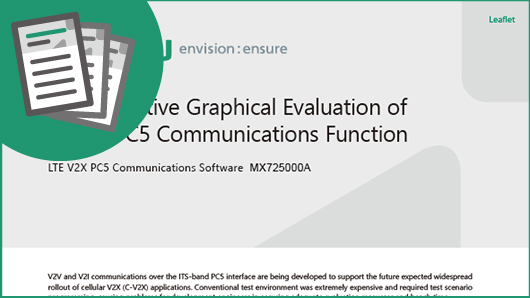 Leaflet: Cost-Effective Graphical Evaluation of C-V2X PC5 Communications Function